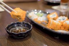 alimento de japão do sushi Foto de Stock Royalty Free