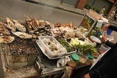 Alimento de la calle Foto de archivo libre de regalías