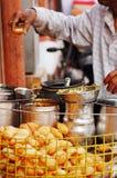 Alimento de la calle de la India foto de archivo