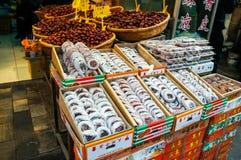Alimento de la calle en la calle musulmán en Xian Imagen de archivo