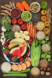 Alimento de la dieta sana Imagen de archivo libre de regalías