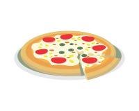 Alimento de la pizza todas las pizzas Imagenes de archivo