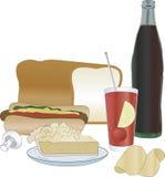 Alimento de las bebidas ilustración del vector