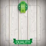 Alimento de madeira da fita do emblema bio Foto de Stock