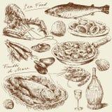 Alimento de mar ilustração royalty free