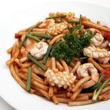 Alimento de mar de las pastas Foto de archivo libre de regalías