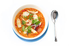 Alimento de mar tom yum fotografia de stock