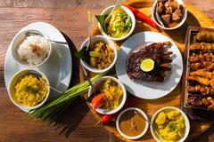 Alimento de mar tradicional do balinese Imagens de Stock