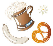 Alimento de Oktoberfest Imagens de Stock Royalty Free