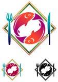 Alimento de peixes ilustração stock