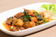 Alimento de peixes tailandês, alimento tailandês Imagem de Stock Royalty Free