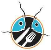 Alimento de pescados stock de ilustración