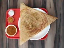 Alimento de South Indian Dosa do desenhista fotografia de stock