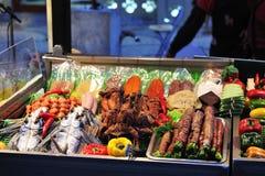 Alimento del BBQ della Taiwan in Kenting immagine stock libera da diritti