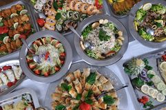 Alimento del buffet Immagine Stock Libera da Diritti