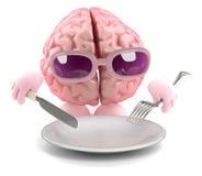 alimento del cervello 3d Fotografie Stock Libere da Diritti
