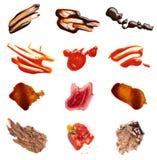 Alimento del dolce del ketchup del cioccolato del vino del caffè della macchia della macchia Fotografie Stock