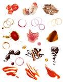 Alimento del dolce del ketchup del cioccolato del vino del caffè della macchia della macchia Immagine Stock
