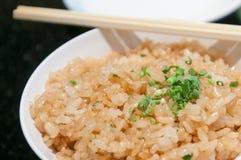 Alimento del giapponese del riso fritto dell'aglio Fotografie Stock Libere da Diritti