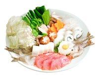 Alimento del giapponese di Sukiyaki fotografie stock libere da diritti