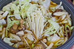 Alimento del giapponese di Sukiyaki Immagine Stock