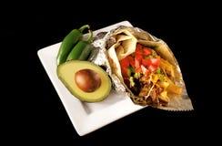 Alimento del Mexican del Burrito Fotografia Stock Libera da Diritti