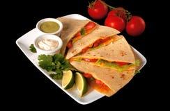 Alimento del Mexican di Quesadilla Fotografie Stock