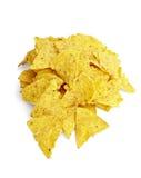 Alimento del mexicana de la tortilla del bocado de la viruta malsano Fotografía de archivo