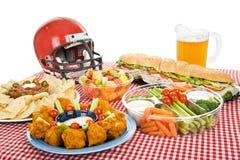 Alimento del partido del Super Bowl Foto de archivo libre de regalías