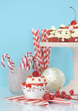 Alimento del partito del dessert di festa di Natale Fotografia Stock Libera da Diritti