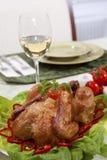Alimento del pollo Fotos de archivo libres de regalías
