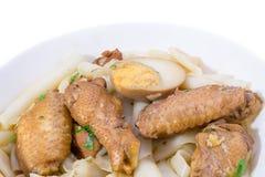 Alimento del pollo della tagliatella Fotografia Stock Libera da Diritti
