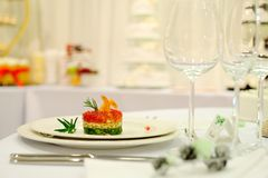 Alimento del ristorante Fotografia Stock
