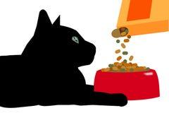 Alimento del ` s del gatto fotografia stock libera da diritti