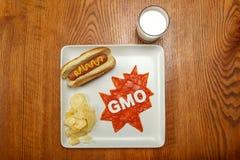 Alimento del supereroe, GMO Immagine Stock