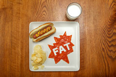 Alimento del supereroe, grasso Fotografia Stock Libera da Diritti