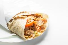 Alimento del turco de Doner Kebab Imagen de archivo