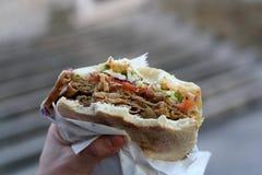 Alimento del turco de Doner Kebab Imagen de archivo libre de regalías