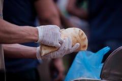 Alimento del turco di Doner Kebab Fotografia Stock