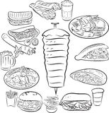 Alimento del turco di Doner Kebab Fotografie Stock