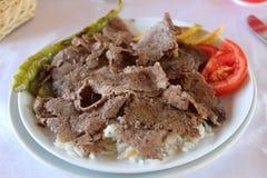 Alimento del turco di Doner Kebab immagini stock