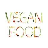Alimento del Vegan illustrazione vettoriale
