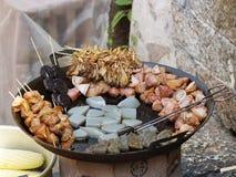 Alimento del Wok Fotografie Stock