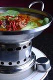 Alimento delicioso de China--estómago del chile y del cerdo y du Foto de archivo