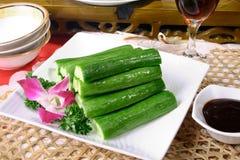 Alimento delicioso de China--pepino Fotos de archivo libres de regalías