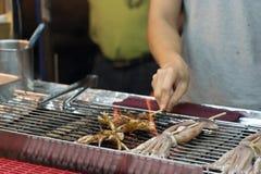 Alimento delicioso do mercado da noite em Taiwan fotos de stock