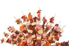 Alimento delicioso en los palillos imagenes de archivo
