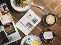 Alimento delizioso dell'alimento di prima colazione e concetto di qualità delle bevande Fotografia Stock Libera da Diritti