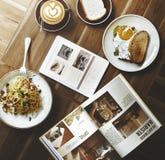 Alimento delizioso dell'alimento di prima colazione e concetto di qualità delle bevande Fotografia Stock