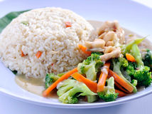 Alimento dell'Asia del riso fritto delle verdure Fotografie Stock Libere da Diritti